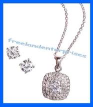 Necklace CZ Elegance Necklace Earring Gift Set Signature Brilliance NEW ... - $29.65