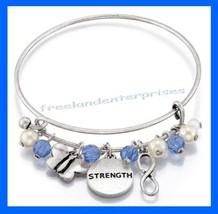 Empowerment Charm Bracelet ~ Blue & Silvertone ~ NEW Boxed~Great Gift~ Speak Out - $13.81
