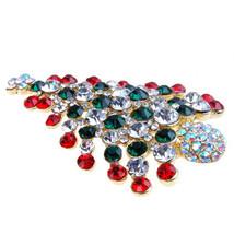 christmas gifts for women Rhinestone Crystal Christmas Tree Brooch Pin C... - $8.50