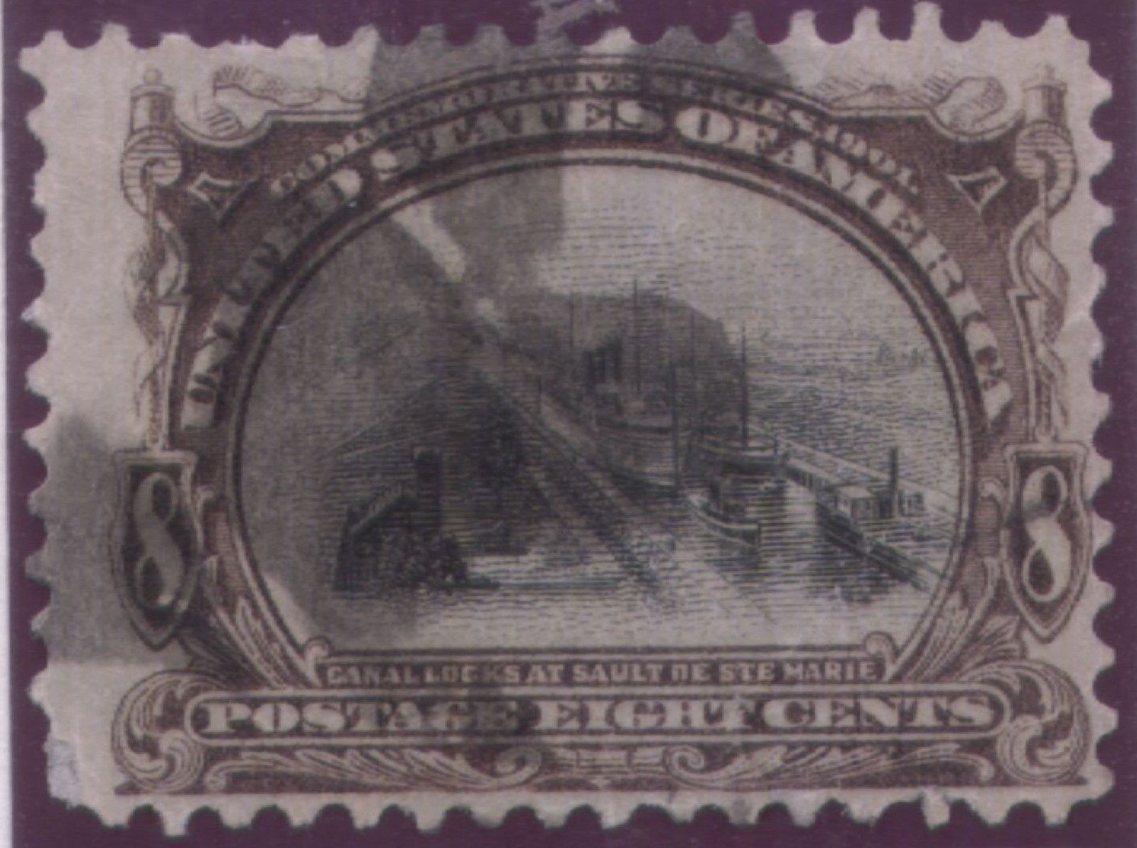 1901 #297 5cent  & #298 8cent Pan-American Expo - free shipping