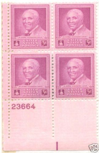 1943-48 lot of 9 Plate Blocks of 4 unused