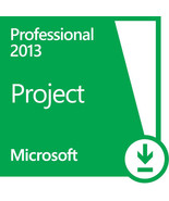 Microsoft Project Professional 2013 One PC License 32/64 bit Digital Delivery - $79.95