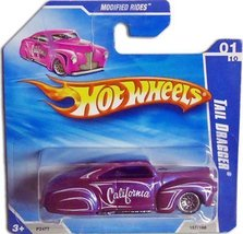 "2009 Hot Wheels ""TAIL DRAGGER"" (Pink-Pearl/Purple) Modified Rods Die Cas... - $16.39"
