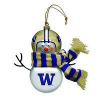 Washington Huskies Blown Glass Snowman Ornament  ** Brand New ** - $26.03
