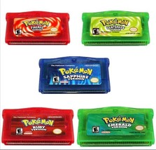 Pokemon Game Card GBA Emerald FireRed LeafGreen Ruby Sapphire US Version - $7.99+