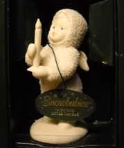 Department 56 Snowbabies Just One Little Candle China Bisque Original Box - $8.99