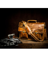Genuine Leather Mens Briefcase Laptop Business Bag - $220.00