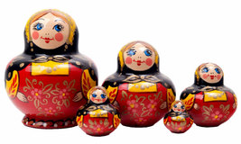 "Fat and Happy Potbelly Nesting Doll - 4"" w/ 5 Pieces - $44.00"