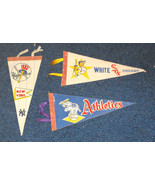 New York Yankees Athletics White Sox mini pennants - £31.83 GBP