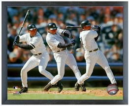 "Bernie Williams Yankkes Multi-Exposure 11""x14"" Photo in a Glassless Spor... - $32.99"