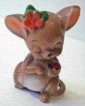 Mouse Figurine Holding Ladybug Josef Originals Vintage - $9.00