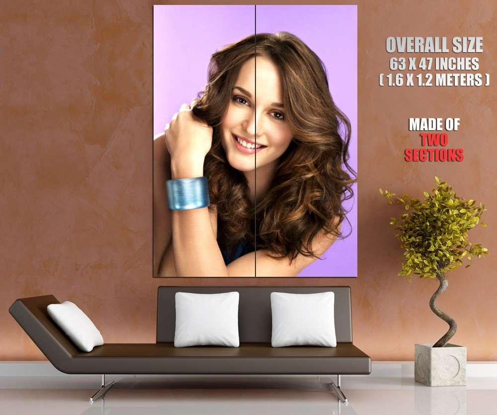 Leighton meester movie actress huge 63x47 gigantic print poster art posters for Home decoration meester