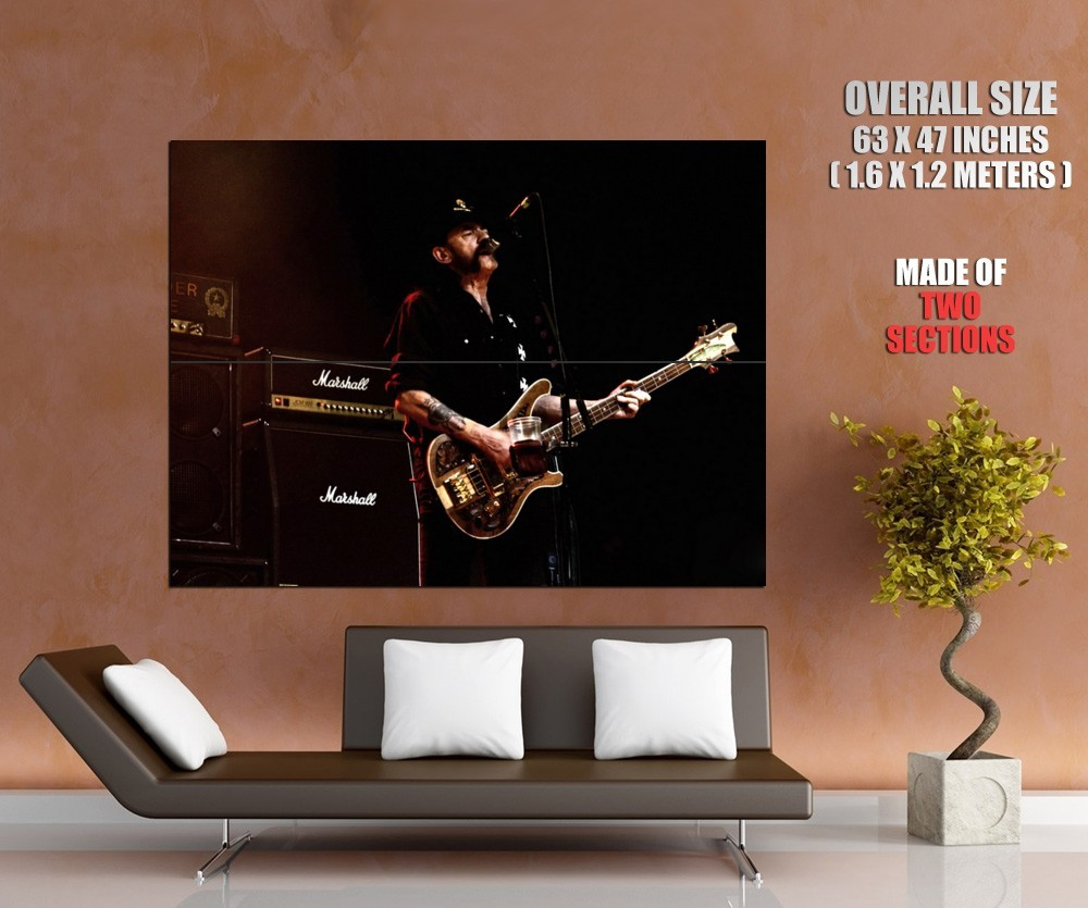 Motorhead Lemmy Wurzel Hard Rock Music Band Huge 63x47 ...