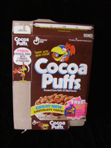 Cocoa Puffs Musical Bank Vintage Cereal Box Flat Empty Box - $19.99