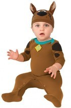 NEW Scooby Doo Costume Baby Size 0-6 Months Rubies Romper Dog Halloween - $14.46