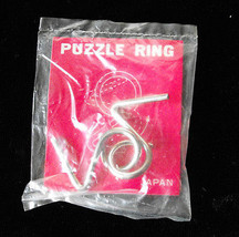 Puzzle Ring Metal Novelty Ring Made In Japan Vintage New - $19.99