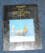 Sotheby's faberge russian works of art auction catalog Objects of vertu ... - $16.99