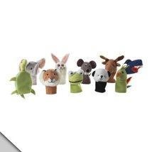 IKEA Titta Djur 10 pc Animal Finger Puppet Set ... - $9.79