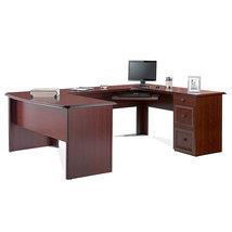 Realspace Broadstreet Contoured U-Shaped Desk, ... - $449.99