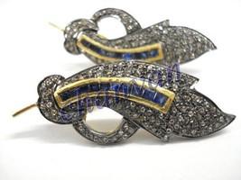 Vintage Leaf Look  2.40Ct Rose Cut Diamond 925 Sterling Silver Earring @... - $397.76