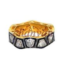 Vintage Repro. Handmade Polky Rose Cut Diamond 925 Silver Band Ring @CSJ... - $5.622,55 MXN