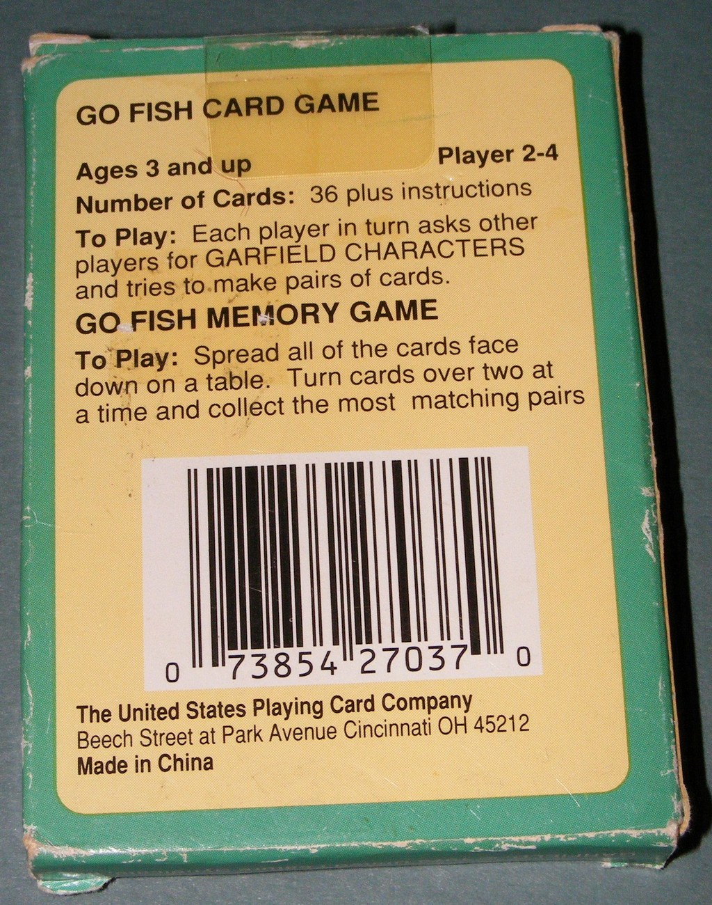 1978 garfield go fish card game other card games poker for Card game go fish