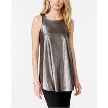 Alfani Metallic Sleeveless Top Large - $39.59