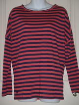 Lilly Pulitzer Tina Stripe Blue Scoopneck Drop Shoulder  Top T-shirt SMA... - $27.80