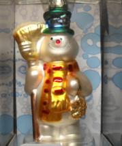 Brass Key Christmas Ornament 2004 Frosty The Snowman Holding Broom Original Box - $14.99