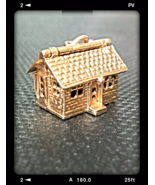 "1950's RARE ""3-D"" VINTAGE 14K CHARM HOUSE: ROOF OPENS - ENAMEL FURNITURE - $395.00"