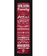 """Indiana """"Hoosiers"""" Personalized 24 x 8 Family Cheer Framed Print - $39.95"""