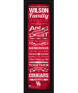 "Personalized Houston ""Cougars"" - 24 x 8 ""Family Cheer"" Framed Print - $39.95"