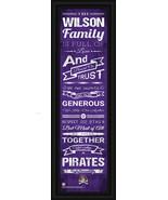"East Carolina University Pirates Personalized 24 x 8 ""Family Cheer"" Fram... - $39.95"