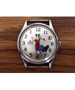 Vintage Lorus Disney Goofy Backwards Wrist Watch - New Battery - No Watch Band - $58.91