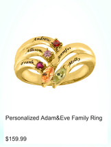 Family Ring with Stones & Engraving (MR91476ENG... - $47.55