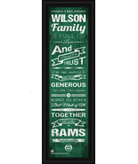 "Personalized Colorado State Rams 24 x 8 ""Family Cheer"" Framed Print - $39.95"