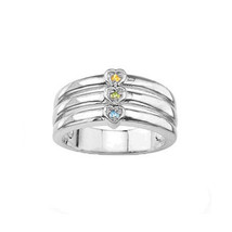 Personalized Mother Ring with Stones (MR91468) ss - $49.55