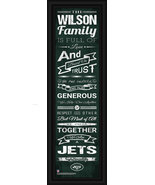 "Personalized New York Jets 24 x 8 ""Family Cheer"" Framed Print - $39.95"