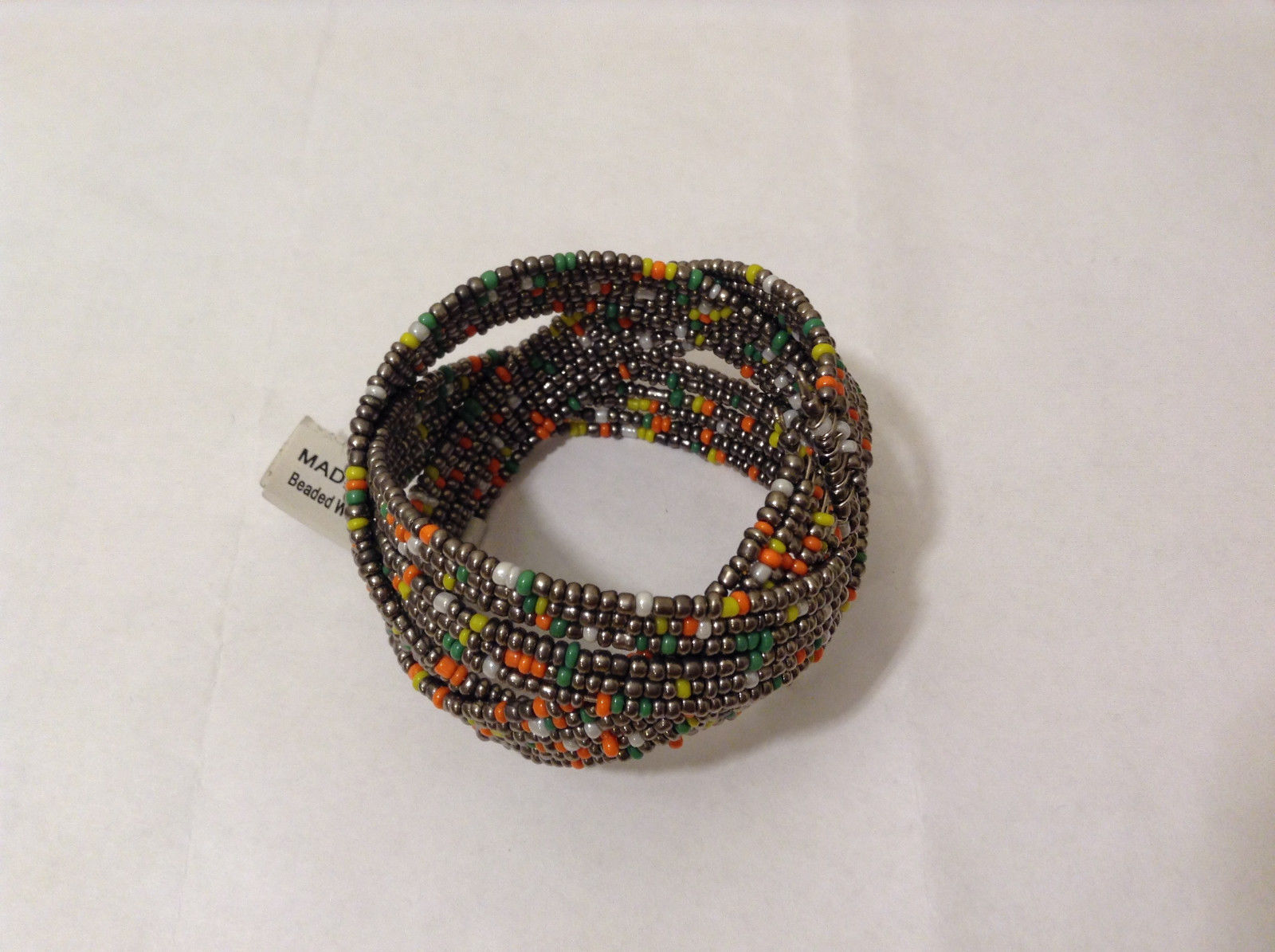 NEW Metal wire Beaded Weave Cuff Bracelet One Size fits all by MAD Style