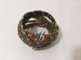 NEW Metal wire Beaded Weave Cuff Bracelet One Size fits all by MAD Style image 2