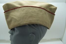 korean war army cap garrison vintage original used - $21.99