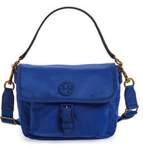 Tory Burch Scout Nylon Crossbody Pouch Slouchy ~Jewel Blue~ NWT $198 - £133.31 GBP