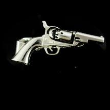 Vintage silver gun tie tack silver Tie tac revolver pistol vintage Anson mens je - $75.00
