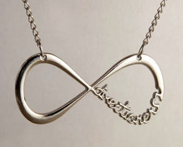Silver Plated Infinity Directioner Necklace .. Combined Shipping - $2.50