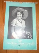 Vintage Prinses Betrixkalender Calendar 1955 Neatherlands  - $6.99