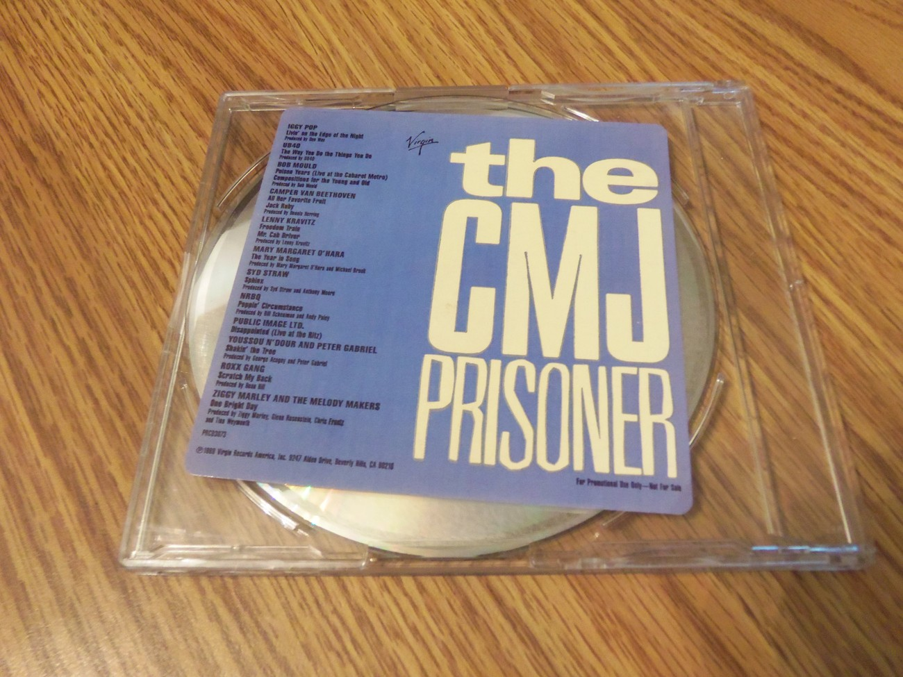 The CMJ Prisoner 1988 Virgin Promo Cd Iggy Pop Bob Mould NRBQ Peter Gabriel