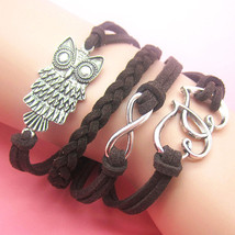 Hearts Owl Infinty Charm Rope Bracelet C/S & H Available - $6.80