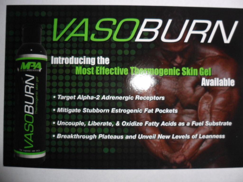 Used, MPA VASOBURN Thermogenic Topical Skin Gel Fat Burner One (3 oz) for sale  USA