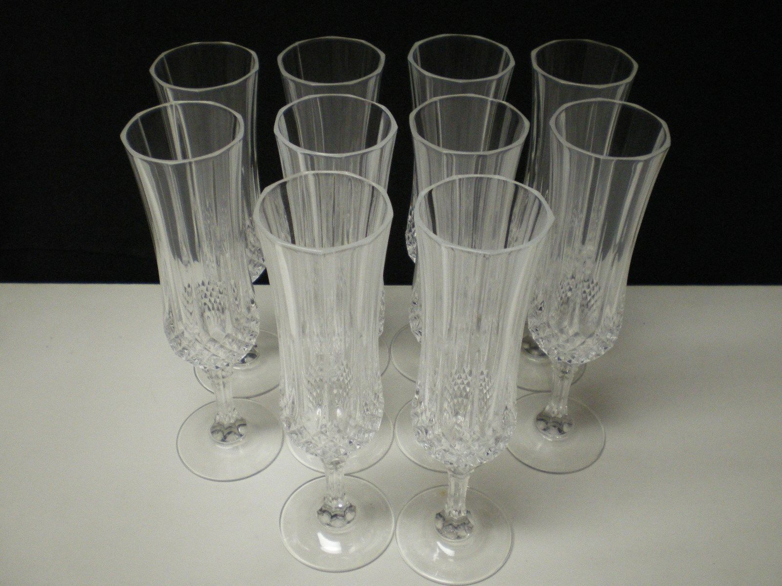 Primary image for 10 Cristal d'Arques Longchamp Tall Champagne Flutes~~~~have more