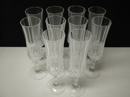 10 Cristal d'Arques Longchamp Tall Champagne Flutes~~~~have more - $39.95